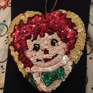 Raggedy Ann and Andy Sequin Heart Box
